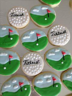 Ideas For Birthday Cake For Dad Father Golf Cookies - _Happy Birthday Dogs!_ Ideas For Golf Birthday Cakes, Birthday Treats, Party Treats, Golf Cookies, Sugar Cookies, Easter Cookies, Cake Cookies, Cupcakes, Birthday Celebration