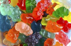 Simply toss the gummy bears into the bowl, then pour in the Champagne, making sure to fully cover the candies. Then, tightly secure the Saran wrap over the top of the bowl to form a nice seal and pop it in the fridge. Leave your beverage masterpiece to soak overnight, and that's it, folks. The next day, just pop 'em in a glass (or directly into your mouth) and enjoy!