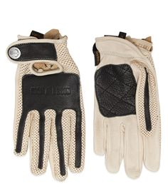 Exceptional quality genuine American deer hide gloves hand crafted by legendary Vanson Leathers in Fall River, MA. Inspired by retro styles with modern functionality. • Vanson X Iron & Resin leather g