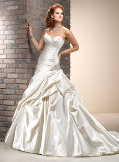 Large View of the Micah Bridal Gown; I am in love with this dress and the color.