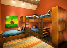 Corner-bunk-beds-Kids-Traditional-with-beds-built-ins-bunk