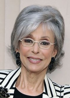 Short Hair with Volume: Although she usually wears her short gray hair spiked, Rita Moreno shows how this versatile cut can also be worn full with some volume