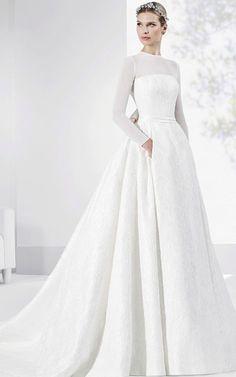 Featured Dress: Franc Sarabia; Wedding dress idea.  #weddingdress