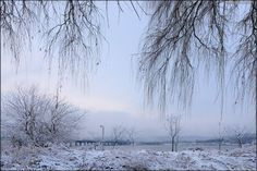 한강설경 漢江雪景 Snowy scenery of the Han- gang River by Bang, Chulrin /Architect Group CAAN