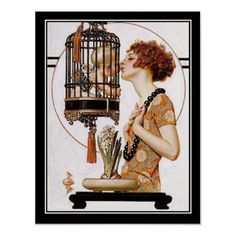 art deco cupid