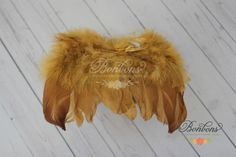 GOLD NEWBORN Feather Wings Newborn Wings with Headband