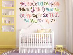 Alphabet Nursery Decor Alphabet Wall Art Girl by YendoPrint