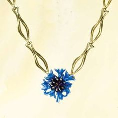Michael Michaud blue #cornflower #necklace.