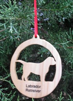 This Labrador Retriever Silhouette ornament is the perfect adornment for every Lab lovers Christmas tree. Was $8 now $6.00  It measures approximately 3 1/2 x 4 inches. Hand cut on a scroll saw, sanded, dipped in lemon oil to bring out the natural beauty of the wood, then finished with several coats of clear coat. It attaches to the tree with a simple ribbon.  This makes a wonderful gift for your Lab loving friends.  Also available in over 25 other breeds. Contact me for other breeds…