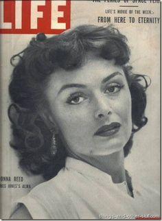 Complete Donna Reed TCM May schedule illustrated with vintage movie collectibles Movie Magazine, Life Magazine, Old Hollywood Stars, Vintage Hollywood, Classic Actresses, Classic Movies, Hollywood Actresses, From Here To Eternity, Donna Reed