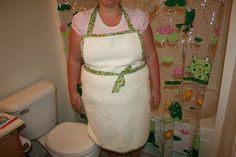 bath towel apron for bathing a baby