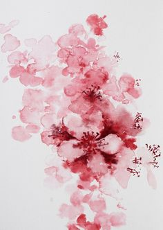 Cherry blossom watercolor close up Watercolor Japan, Watercolor Flowers, Watercolor Art, Cherry Blossom Watercolor, Cherry Blossom Painting, Cherry Blossom Vector, Chinese Cherry Blossom, Cherry Blossoms, Blossom Tattoo