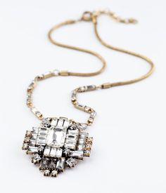 Rhinestone Médaillon Necklace. Half Off and Free Shipping! $32.50 www.abitinobianco.com