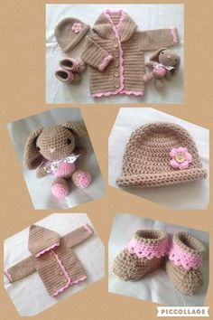 Sweet baby girls hoodie set. Free crochet pattern. Xx