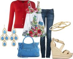 Summer Flowers/Plus size shirt, created by roxannepatton on Polyvore