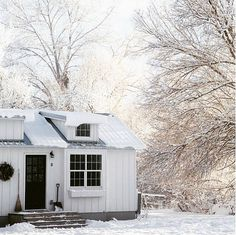 """It's living smaller in order to live larger. Here, we learn, we love, and we live . Its A Wonderful Life, Wonderfull Life, Little Houses, Tiny Houses, Guest Cabin, Minimal Living, Country Living Magazine, Floating House, White Cottage"
