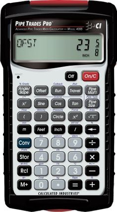 Pipe Trades Pro 4095 Advanced Pipe Trades Math Calculator - http://textbookery.com/pipe-trades-pro-4095-advanced-pipe-trades-math-calculator/ -