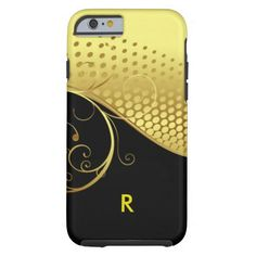 Gold Black Abstract Iphone 6 case