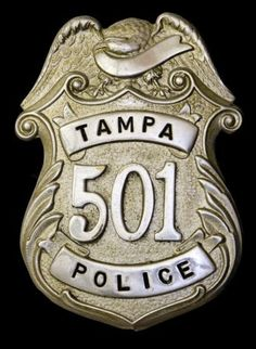 If you've been arrested in Tampa, FL this badge may look familiar. It's a #Tampa, Florida Police Badge.