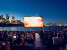 An open-air cinema in Sydney, Australia... It may be hard to concentrate on the movie rather than the beautiful view of Sydney. :)