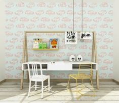 Polly Pattern tapeta dla dzieci Auta 60x285cm