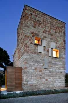 Villa Sara, Partanna Mondello, Palermo Sicily | renovation/adaptive re-use  of stone ruin farm buildings.
