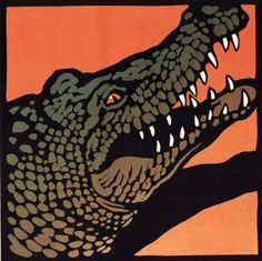 19 Crocodile Teeth by Chris Wormell Linocut, edition of 75. http://www.art-of-illustration.co.uk/wormell.aspx