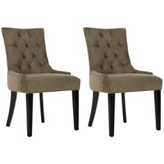 Safavieh En Vogue Dining Abby Grey Side Chairs (Set of 2)