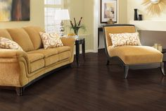"""Mohawk Kahala solid bamboo in """"Warm Chocolate."""" 3/8"""" thick, 4.84"""" wide, various lengths. mohawk.com"""
