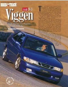 June 1999 Road & Track Magazine Article For The Saab 9-3 Viggen