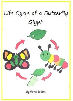 Life Cycle of a Butterfly Glyph. This is a combo package that includes my Colorful Shapes Caterpillar Glyph Fun Unit and my Colorful Shapes Butterf...