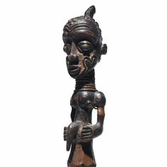 A rare and important Luluwa Half-figure (detail), Western Kasaï, Democratic Republic of the Congo bwanga bwa cibola height 12 5/8 in. 32.1 cm  E. Gustave de Hondt, Brussels, by 1938 Helena Rubinstein, Paris and New York
