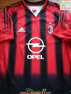 Relive AC Milan's 2004/2005 season with this vintage Adidas home football shirt.