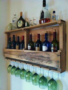Pallet wine rack. With a margarita twist??