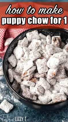 When a chocolate craving hits, it's time to make a small batch Puppy Chow for One! The perfect sweet and salty snack mix for any time of the day.