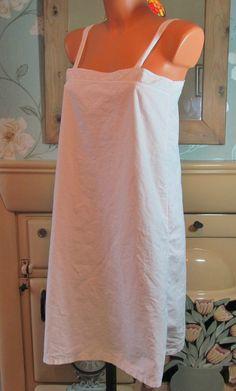 Vtg white Victorian style smock slip style peignoir nightie nightgown M R13461