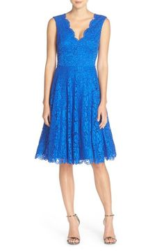 Vera Wang Lace Fit & Flare Dress available at #Nordstrom