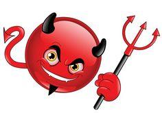 Illustration about Devil emoticon holding his pitchfork. Illustration of diabolical, creature, funny - 15453240 Facebook Emoticons, Funny Emoticons, Funny Emoji, All Emoji, Smiley Emoji, Smiley Faces, Emoticon Faces, Naughty Emoji, Emoji Symbols