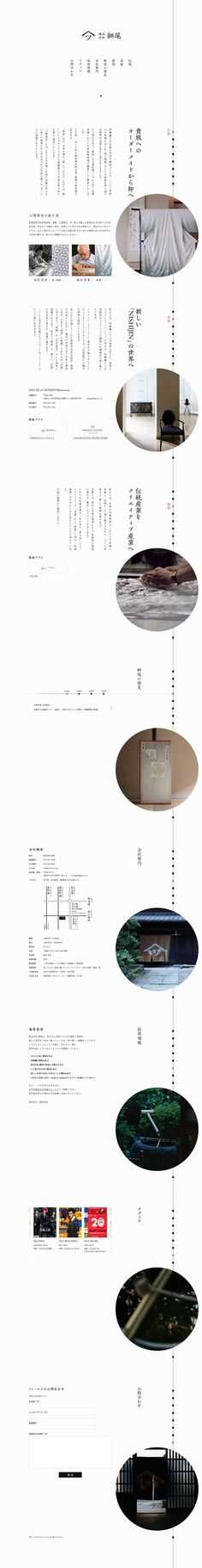 細尾 http://www.hosoo.co.jp/  (Als je deze zou opvouwen, kan je hem als folder lezen door hem te draaien van richting, en kan je hem als poster gebruiken als je hem helemaal ontvouwt)
