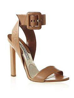 Brian+Atwood Arizona+Leather+Ankle-Strap+Sandals