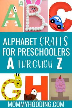 Are you teaching the alphabet to your toddler or preschooler? Try these letter crafts to help teach letter recognition, letter sounds and more. This letter of the week craft series includes free letter activities and letter printables from various bloggers! #alphabet #letters...