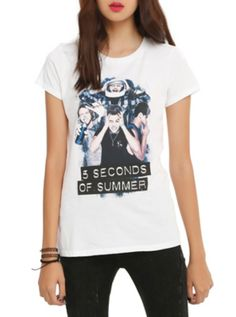 5 Seconds Of Summer Silly Photo Girls T-Shirt