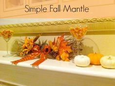 Easy fall mantle ideas from Organized Island