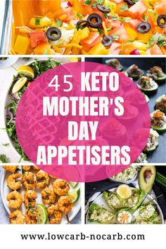 Prepare only best out of the Top keto and Low Carb Party appetisers for your Mother's day Brunch. Pick your favorite Gluten-Free, Grain-Free and super Healthy dishes you can prepare in advance. Mothers Day would be filled with only the best Keto Brunch Recipes and dishes everyone will love. Start Planning now. Low Carb Appetizers, Low Carb Dinner Recipes, Keto Dinner, Appetizers For Party, Brunch Recipes, Summer Recipes, Appetizer Recipes, Keto Recipes, Keto Finger Foods