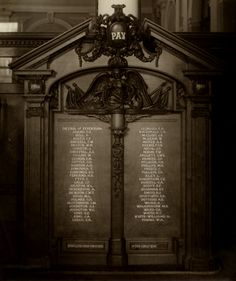 Memorial erected in Head Office of Yorkshire Insurance Company, St. Helen's Square, York.