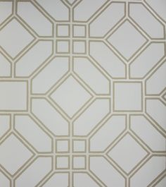 Veranda Trellis Wallpaper A printed wallpaper with a classic geometric design in…