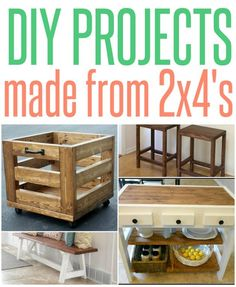 Grab a few 2x4s from the hardware store and whip up one of these simple building projects! Simple Wood Projects, 2x4 Wood Projects, Diy Projects To Try, Project Ideas, Home Projects, Router Projects, Projects For Kids, Woodworking Ideas, Fine Woodworking