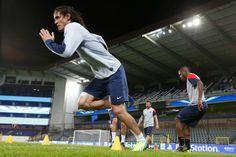 FOOTBALL | PARIS SG ■ CHAMPIONS LEAGUE 2014 Edinson CAVANI en entraînement avant le match contre le RSC ANDERLECHT