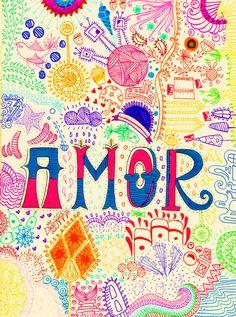 ...Amor... Todo lo que necesitas es amor. (John Lennon ) John Lennon, Frases, Expressionism, Falling Out Of Love, Words