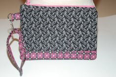 Black Pink & White Wristlet by BeeBlessed on Etsy, $15.00
